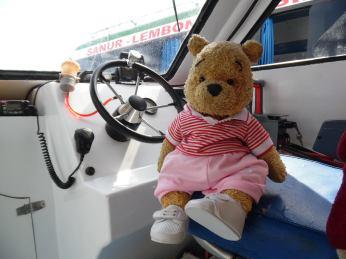 Feddy enjoying the boat ride